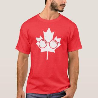 T-shirt Érable du Canada avec des verres dessus