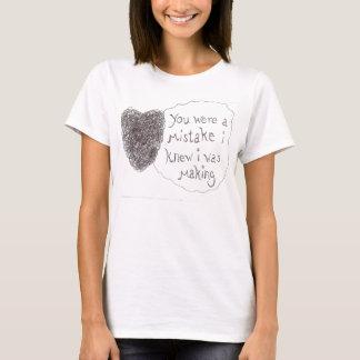 T-shirt Erreur intéressant la fabrication
