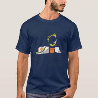 T-shirt Escargot contre le cercle de feu