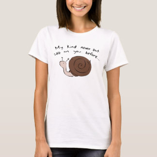 T-shirt Escargot coupable (femmes)