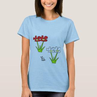 T-shirt escargot en fleurs