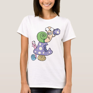 T-shirt Escargots et champignon drôles