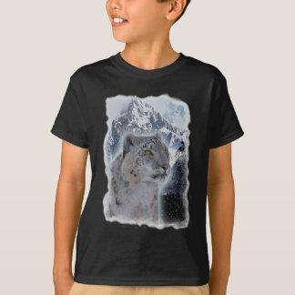 T-shirt Espèce menacée de LÉOPARD de NEIGE de grand chat