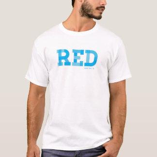 T-shirt Essai T - ROUGE BLEU d'idiot de  