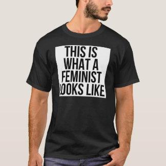 T-shirt Est c'à ce qu'un féministe ressemble - le