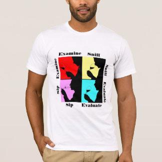 T-shirt Étapes d'échantillon de vin de style de PopArt