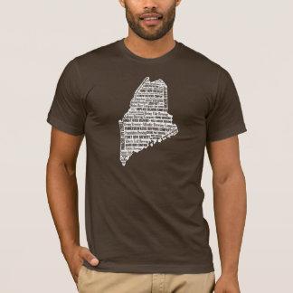 """T-shirt """"État de la douille courte foncée des hommes de"""