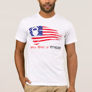 T-shirt État uni de forme physique - Kettlebell T