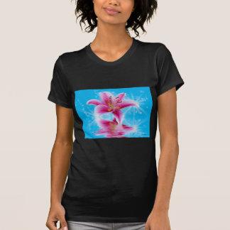 T-shirt Étincelle rose de lis