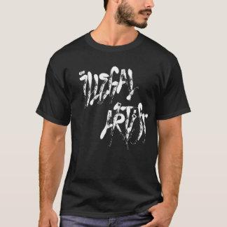 T-shirt Étiquette illégale d'artiste