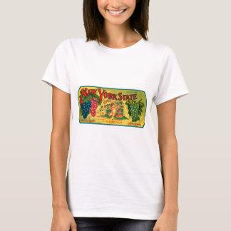 T-shirt Étiquette vintage d'annonce de raisins de l'état
