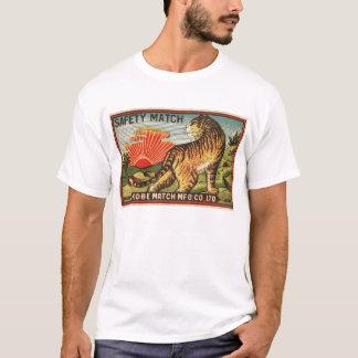 T-shirt Étiquette vintage de match de sécurité - tigre