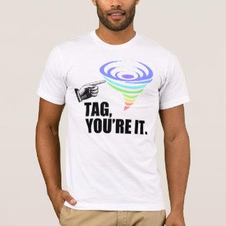T-shirt Étiquette, vous êtes lui (les hommes)
