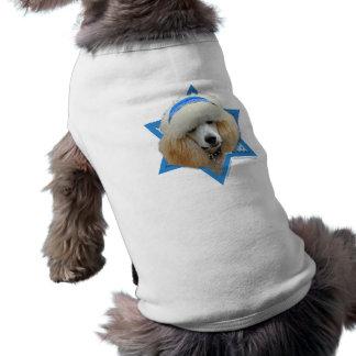 T-shirt Étoile de David de Hanoukka - caniche - abricot