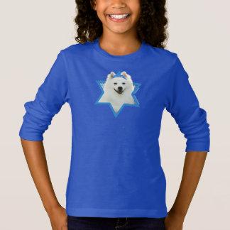 T-shirt Étoile de David de Hanoukka - chien esquimau
