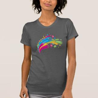 T-shirt étoiles d'arc-en-ciel