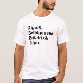 T-shirt Étoiles de Bellatrix Saiph | de Betelgeuse de