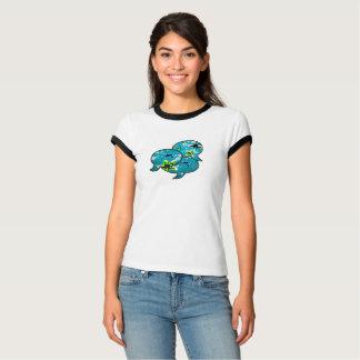 T-shirt Étoiles de mer au néon parlant dans les bulles