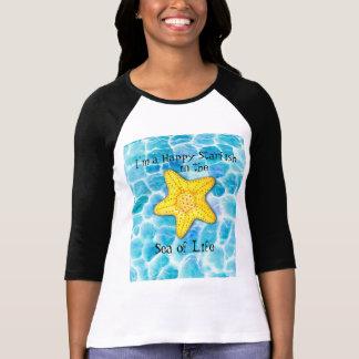 T-shirt Étoiles de mer heureuses lunatiques sur l'océan