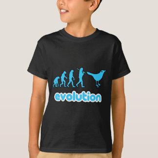 T-shirt Évolution de gazouillement