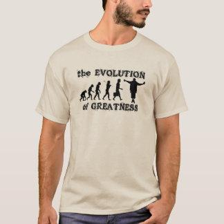 T-shirt Évolution de longue douille de grandeur