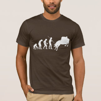 T-shirt Évolution équestre de l'homme à cheval