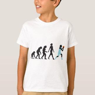 T-shirt évolution of woman basketball plus player