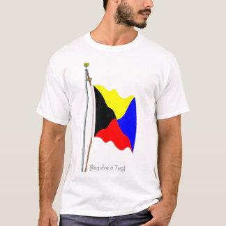 T-shirt Exigez une chemise de drapeau de signal de zoulou