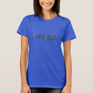 T-shirt Explorateur F royal profond