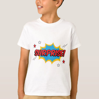 T-shirt Expression comique de surprise