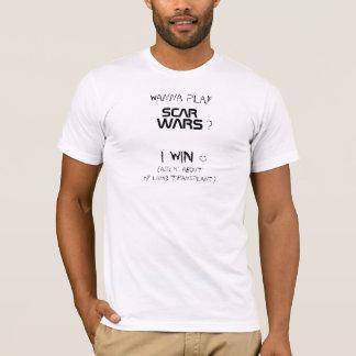 T-shirt f) ScarWars - T adapté par blanc des hommes