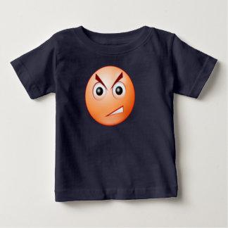 T-shirt fâché d'enfants en bas âge de visage