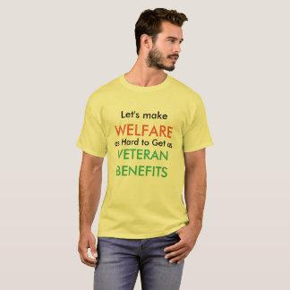 T-shirt Faisons l'aide sociale en tant que dur pour