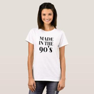 T-shirt Fait dans la chemise des femmes des années 90