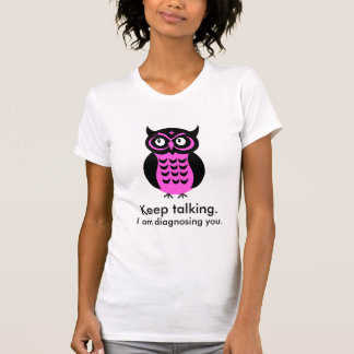 T-shirt fait sur commande des textes de hibou