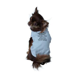 T-shirt fait sur commande XS BLEU de dessus de Tee-shirt Pour Chien