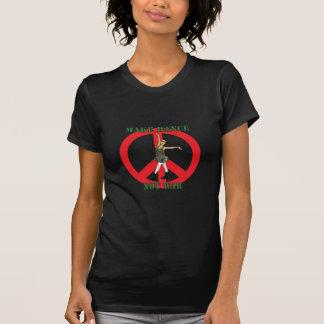 T-shirt faites à des femmes de guerre de danse pas le