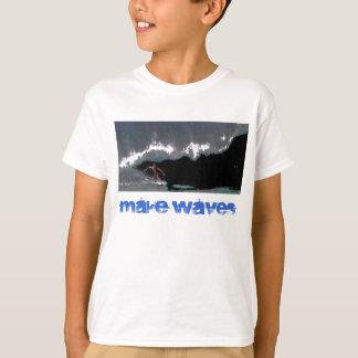 T-shirt Faites à des garçons de canalisation de vagues le