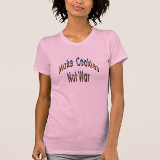 T-shirt faites la guerre de biscuits pas
