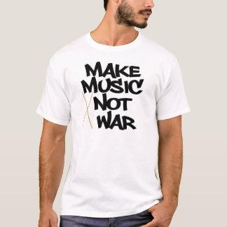 T-shirt Faites la guerre de musique pas (les tambours)