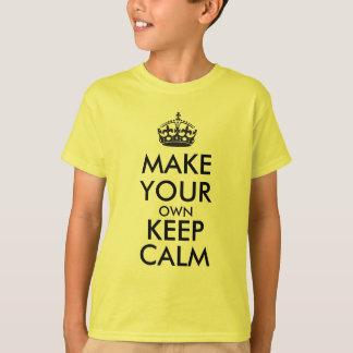 T-shirt Faites vos propres garder le calme - noir