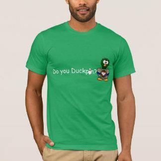 T-shirt FAITES-VOUS DUCKPIN ? Pièce en t de bowling