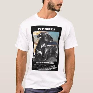 T-shirt Faits de pitbull