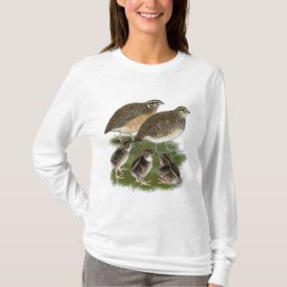 T-shirt Famille de cailles de Coturnix