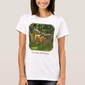 T-shirt Faon de Whitetail de ressort et cerfs communs de