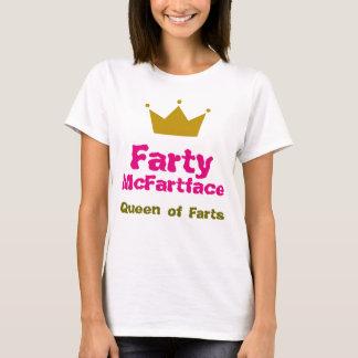 T-shirt Farty McFartface - reine des pets