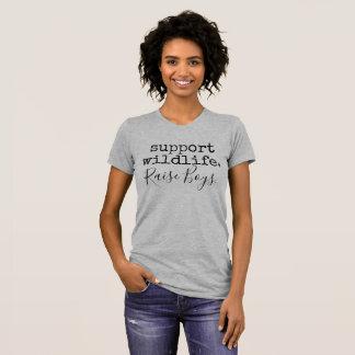 T-shirt faune de soutien, garçons d'augmenter