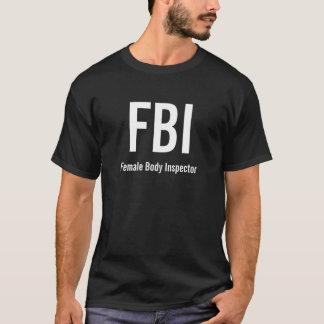 T-shirt FBI, inspecteur de corps féminin