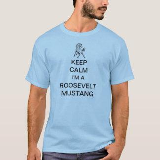 T-shirt FDR - Gardez le calme (la pièce en t bleue de
