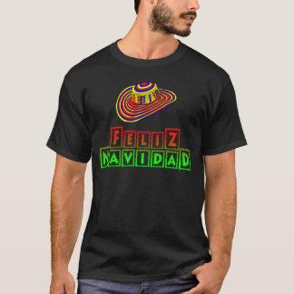 T-shirt Feliz Navidad avec la chemise de Noël de sombrero